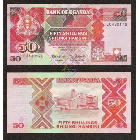 Uganda 50 Shillings, 1987, P-30a, UNC