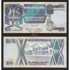Uganda 100 Shillings, 1988, P-31b, UNC