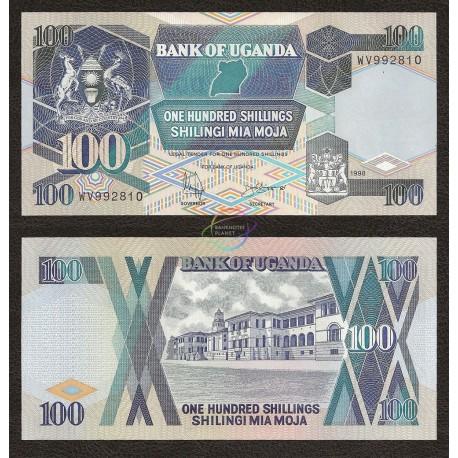 Uganda 100 Shillings, P-31c, 1998, UNC