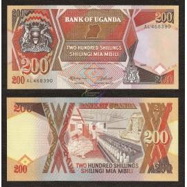 Uganda 200 Shillings, P-32a, 1987, UNC