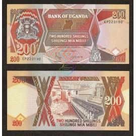 Uganda 200 Shillings, 1998, P-32b, UNC