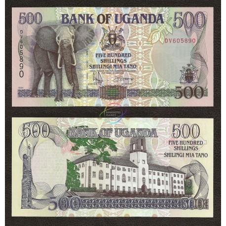 Uganda 500 Shillings, 1994, P-35a, UNC