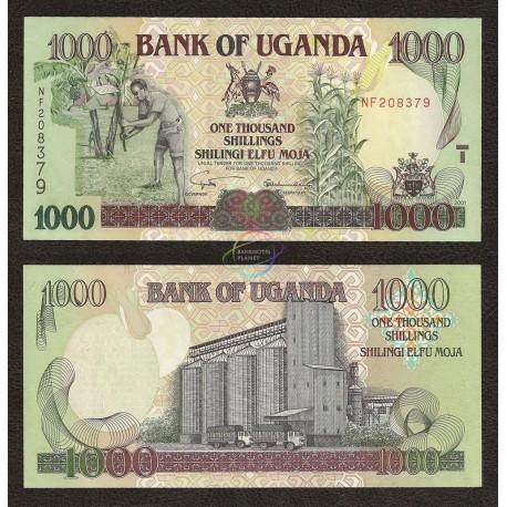 Uganda 1000 Shillings, 2001, P-39a, UNC