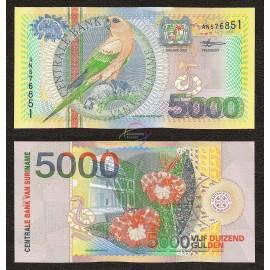 Suriname 5,000 Gulden, 2000, P-152, UNC