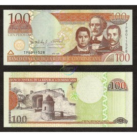 Dominican Republic 100 Pesos, 2009, P-177, UNC