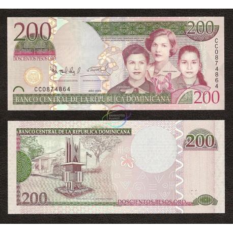 Dominican Republic 200 Pesos, 2009, P-178, UNC