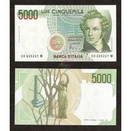 Italy 5,000 Lire, 1985, P-111b, UNC