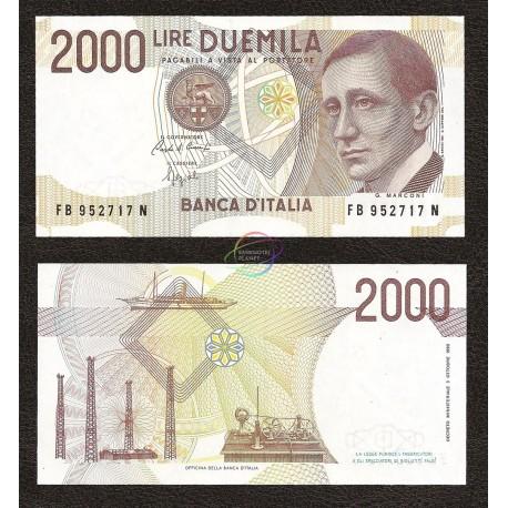 Italy 2,000 Lire, 1990, P-115, UNC