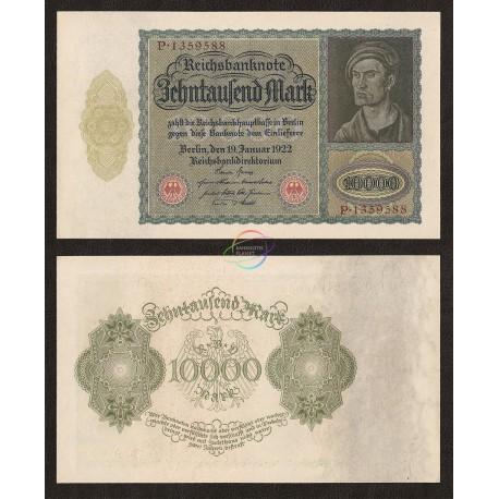 Germany 10,000 Mark, 1922, P-71, AU