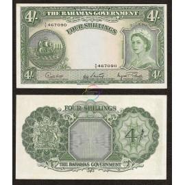 Bahamas 4 Shillings, QE II, 1953, P-13d, AUNC