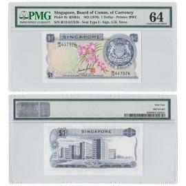 Singapore, P-1b, 1970, PMG 64 UNC