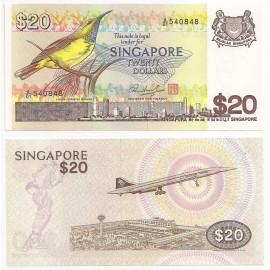 Singapore 20 Dollars, 1979, P-12, UNC