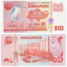 Singapore 10 Dollars, 1980, P-11b, UNC