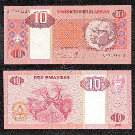 Angola 10 Kwanzas, 1999, P-145, UNC