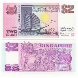 Singapore 2 Dollars, 1998, P-37, UNC