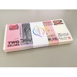 Singapore 2 Dollars X 100 PCS, Full Bundle, 1997, P-28, UNC