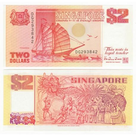 Singapore 2 Dollars, 1990, P-27, UNC