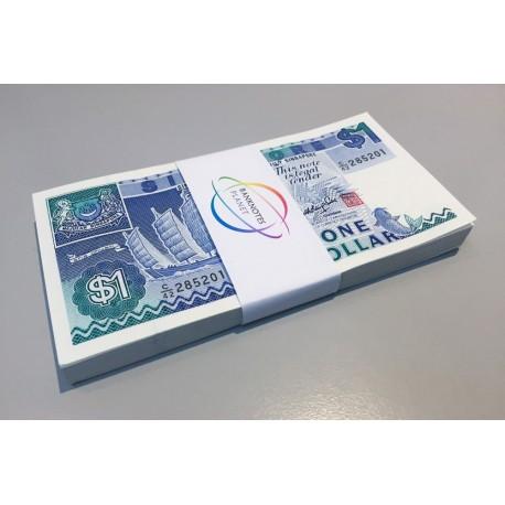 Singapore 1 Dollar X 100 PCS, Full Bundle, 1987, P-18a, UNC