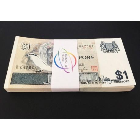 Singapore 1 Dollar, Full Bundle, 1976, P-9, UNC