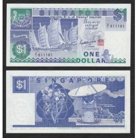 Singapore 1 Dollar, Z/1 Replacement, Sign GKS, 1987, P-18a, UNC