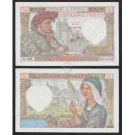 France 50 Francs, 1942, P-93, AUNC