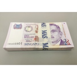Singapore 2 Dollars X 50 PCS, Half Bundle, 2005, P-45A, UNC
