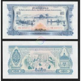 Laos 100 Kip, 1975, P-23, UNC