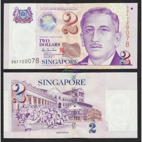 Singapore 2 Dollars, 1997, P-38, UNC