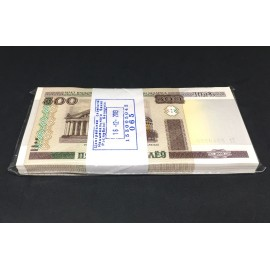 Belarus 500 Rubles X 100 PCS, Full Bundle, 2000 (2011), P-27b, UNC