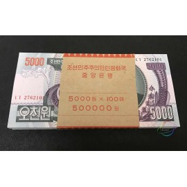 Korea 5000 Won X 100 PCS, Full Bundle, 2006, P-46, UNC