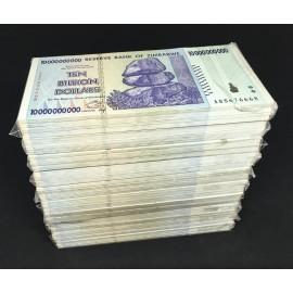 Zimbabwe 10 Billion Dollars X 1000 PCS, Full Brick, P-85, 2008, XF-AU