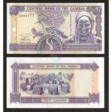 Gambia 50 Dalasis, 2001, P-23b, UNC