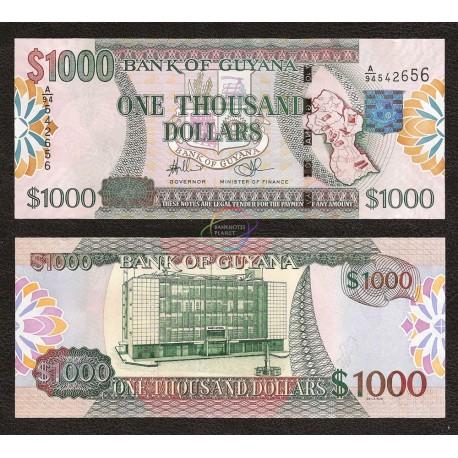 Guyana 1,000 Dollars, 2000, P-35, UNC