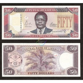 Liberia 50 Dollars, 2004, P-29b, UNC