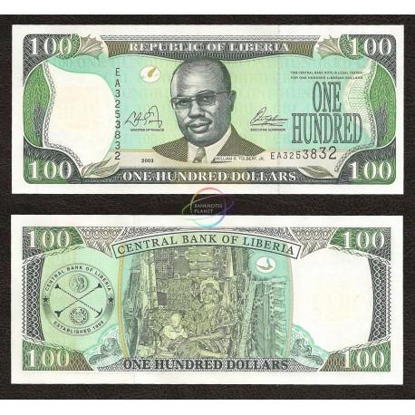 Liberia 100 Dollars, 2003, P-30a, UNC