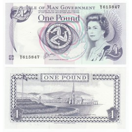 Isle of Man 1 Pound, QE II, 1983, P-40, UNC