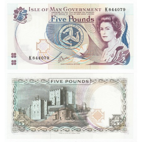 Isle of Man 5 Pounds, QE II, 1983, P-41b, UNC