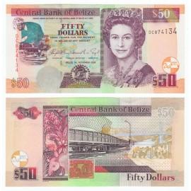 Belize 50 Dollars, QE II, 2006, P-70b, UNC