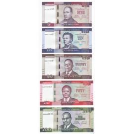 Liberia 5, 10, 20, 50, 100 Dollars Set 5 PCS, 2016, P-New, UNC