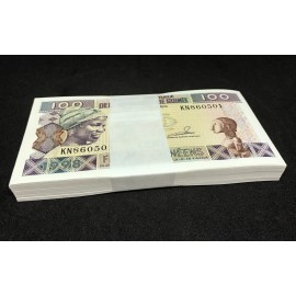 Guinea 100 Francs X 100 PCS, Full Bundle, 1998, P-35a, UNC