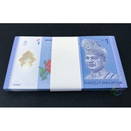 Malaysia 1 Ringgit X 100 PCS, Full Bundle, 2012, P-51, Polymer, UNC