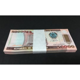 Mozambique 50,000 Meticais X 100 PCS, Full Bundle, 1993, P-138, UNC