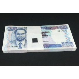 Burundi 500 Francs X 100 PCS, Full Bundle, 1995, P-37A, UNC