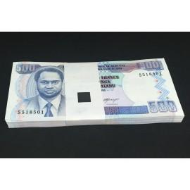 Burundi 500 Francs X 100 PCS, Full Bundle, 1995, P-37A, UNC