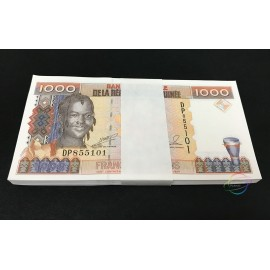Guinea 1000 Francs X 100 PCS, Full Bundle, 1998, P-37, UNC