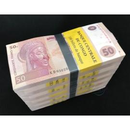 Congo D.R. 50 Francs X 1000 PCS, Full Brick, 2013, P-97, UNC