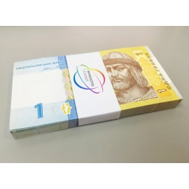 Ukraine 1 Hryvnia X 100 PCS, Full Bundle, 2014, P-116, UNC