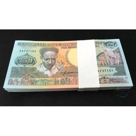 Suriname 250 Gulden X 100 PCS, Full Bundle, 1998, P-134, UNC