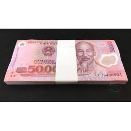 Vietnam 50,000 Dong X 100 PCS, Full Bundle, 2016, P-121, Polymer, UNC