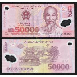 Vietnam 50,000 Dong, 2016, P-121, Polymer, UNC